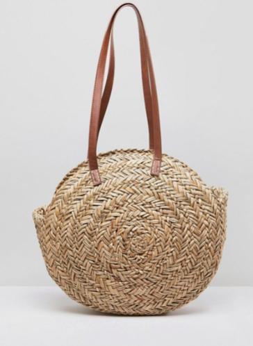ASOS DESIGN Straw Circle Bag