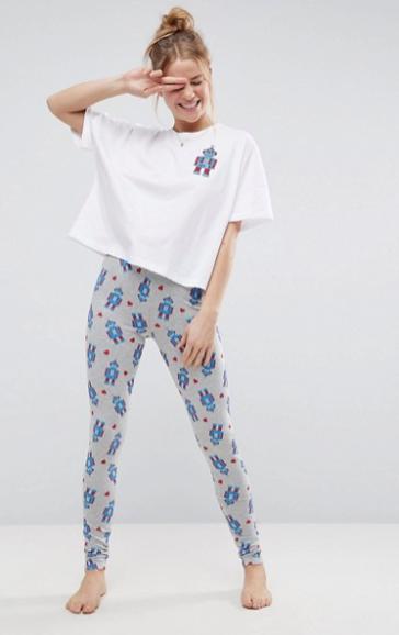 ASOS Robot Tee & Legging Pyjama Set